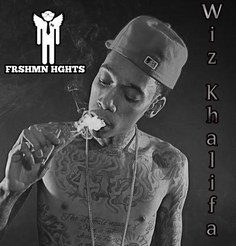 Wiz Khalifa smoking a cigarette (or weed)